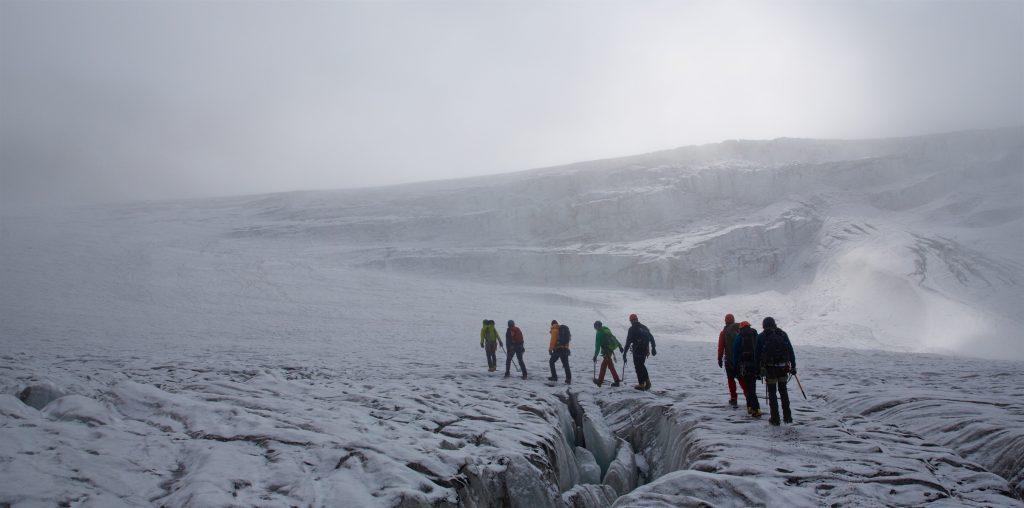 Auf dem Taschachferner, Gletscherkurs 2015, Foto: Bernd Limbach