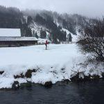 Langlaufen in Engelberg unweit der Sprungschanze